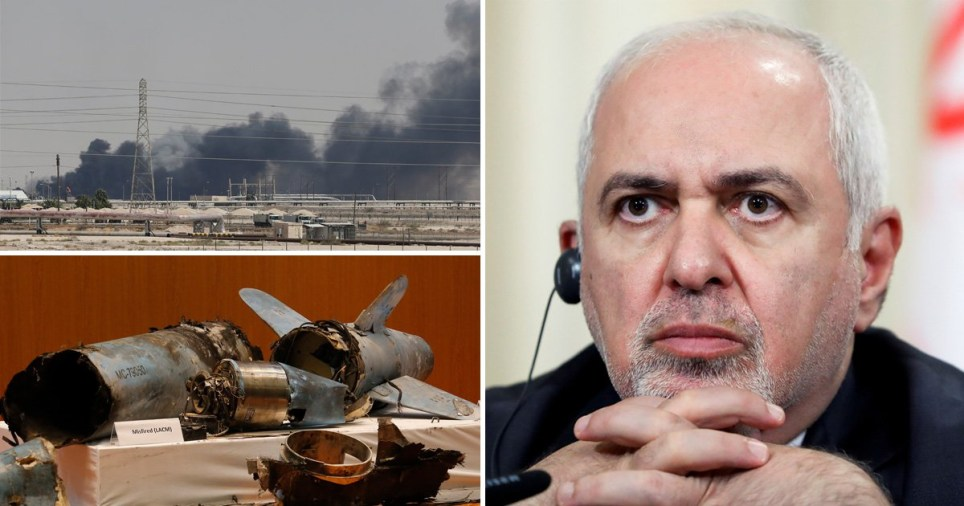 It is the starkest warning yet to be issued by Iran's foreign minister, Mohammed Javad Zarif (Picture: Reuters; AP)