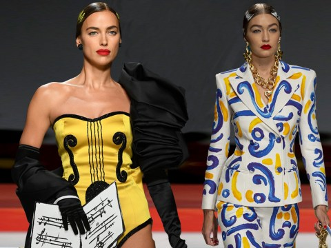 Irina Shayk leads the charge as she hits runway with Bella and Gigi Hadid and Kaia Gerber
