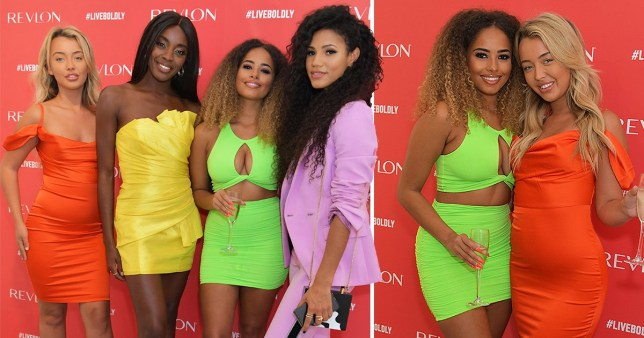 Love Island's Amber Gill stuns in jaw-dropping neon co-ord as she reunites with Harley Brash at makeup event