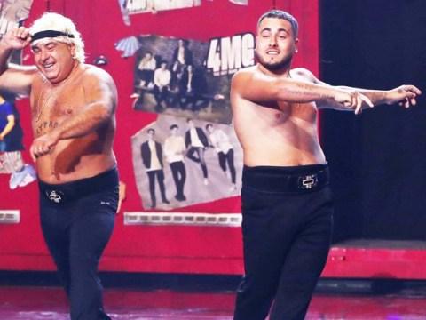 Britain's Got Talent's Simon Cowell gives Stavros Flatley his golden buzzer