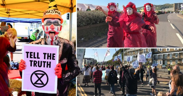 Composition of Extinction Rebellion protests in Dover