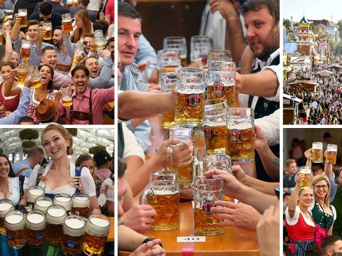 Beer starts flowing as thousands storm gates for Oktoberfest