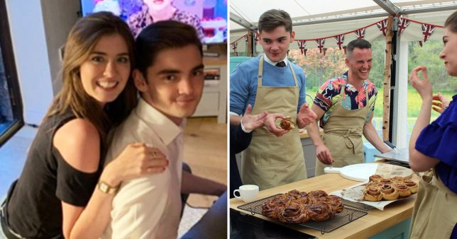 Comp of Alice Fevronia and Henry Bird on The Great British Bake Off