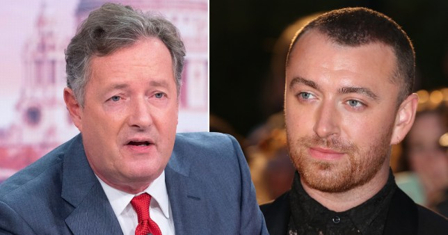 Piers Morgan and Sam Smith