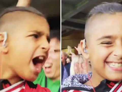 Dad films blind son living every moment of Arsenal's win