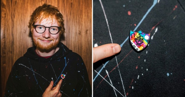 Ed Sheeran designs a Blue Peter badge because, of course