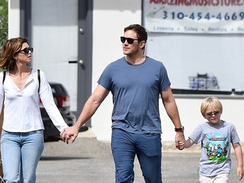 Chris Pratt enjoys some family quality time as he grabs breakfast with Katherine Schwarzenegger and son Jack