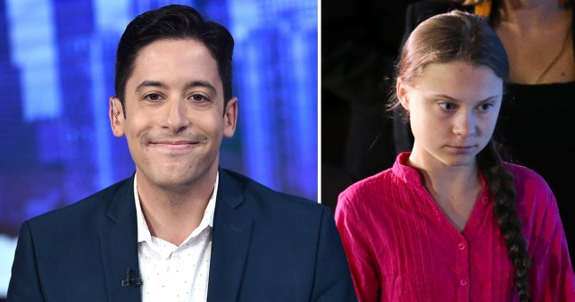 Conservative pundit Michael Knowles and climate change activist Greta Thunberg