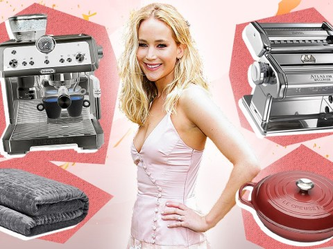 Jennifer Lawrence shares her wedding registry wish-list on Amazon and we have so many questions