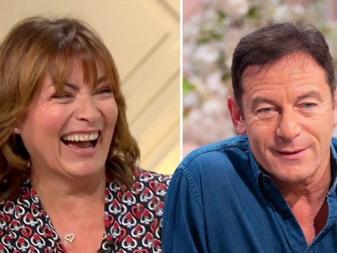 Lorraine Kelly branded 'inappropriate' after comment about running behind Jason Isaacs 'for the view'