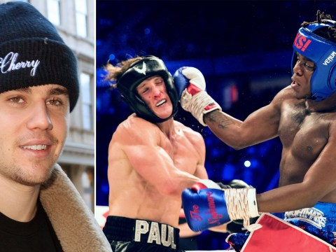 Justin Bieber urges Logan Paul to 'rip KSI's head off' at rematch amid UK press conference row