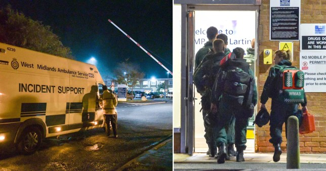 Paramedics were seen entering the prison on Tuesday night (Picture: SnapperSK - Getty)