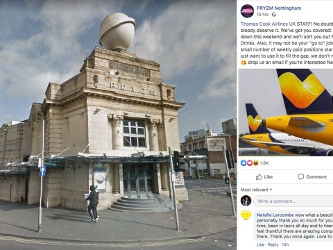 Nightclub offers Thomas Cook employees free drinks and entry