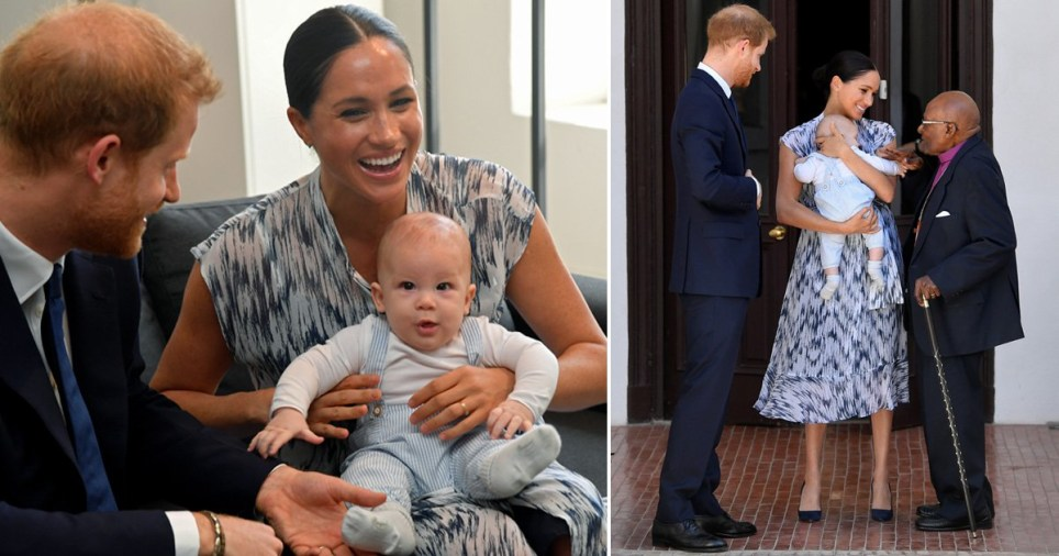 Meghan and Harry introduce Archie to Desmond Tutu