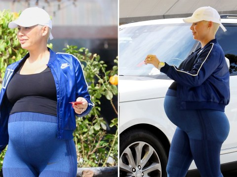 Pregnant Amber Rose is totally about to pop