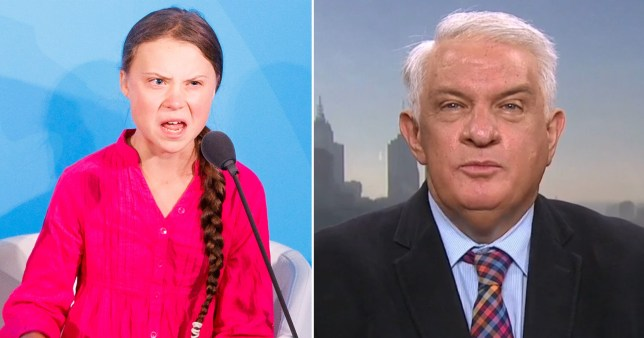 Dr Michael Carr-Gregg has said he is worried about Greta Thunberg's mental wellbeing (Picture: EPA - Nine)