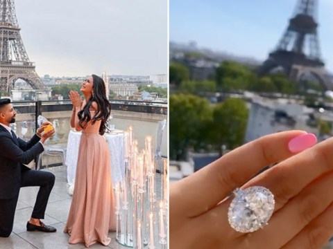 Influencer couple who had a seven-day long proposal mocked for engagement ring