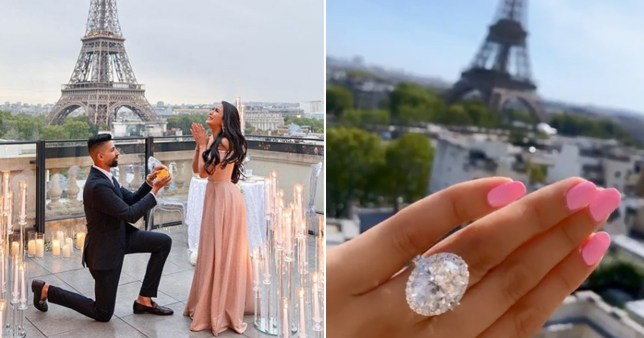 Influencer couple who had a seven-day long proposal mocked for ring