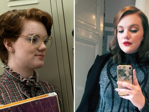 Stranger Things' Shannon Purser is far cry from Barb as she glams up for Paris Fashion Week