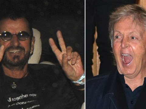 The Beatles' Paul McCartney and Ringo Starr reunite at Abbey Road to celebrate album's 50th birthday