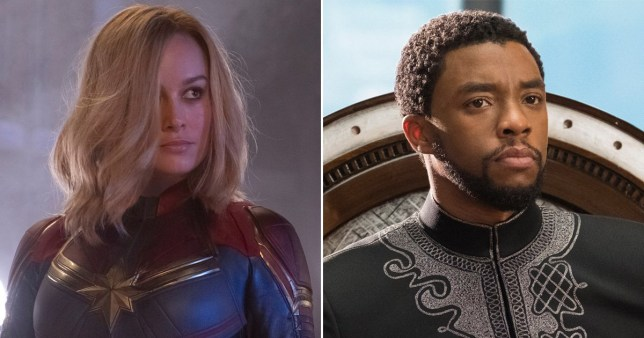Captain Marvel and Black Panther