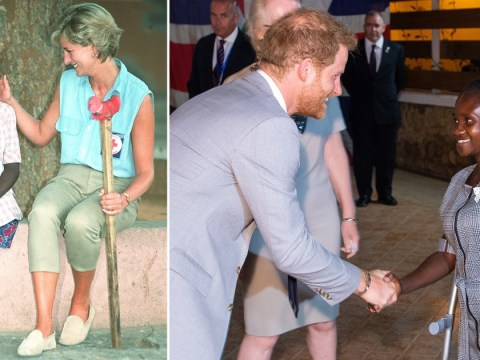 Prince Harry meets landmine victim who famously reduced his mother to tears
