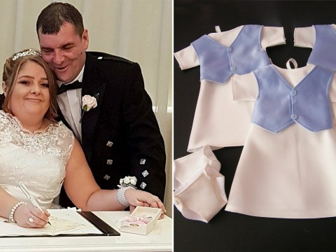 Woman who had three miscarriages donates wedding dress to make funeral gowns for stillborn babies