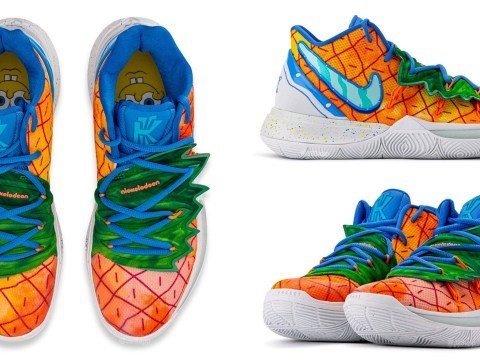 Are ya ready kids… for these Spongebob x Nike Kyrie 5 pineapple under the sea sneakers?