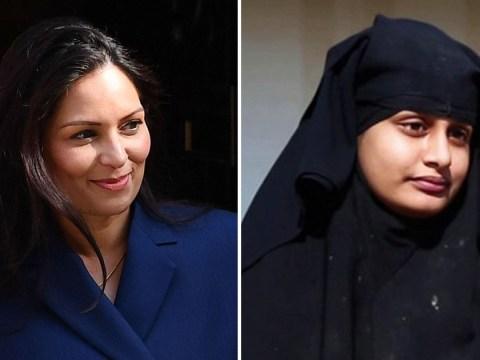 Isis bride Shamima Begum 'can never return to UK', Priti Patel says