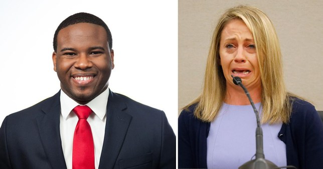 Image result for images of Ex-Dallas cop Amber Guyer sentenced to 10 years for murdering neighbour Botham Jean