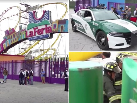Two dead after rollercoaster car derails and plunges to ground