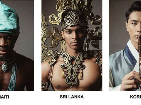 Stunning photos show men's beauty pageant contestants decked out in national dress
