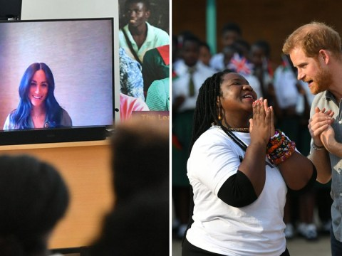 Meghan skypes Prince Harry during his Malawi tour while Archie takes a nap