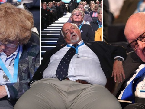 Conservative Party conference proves too exciting for some audience members