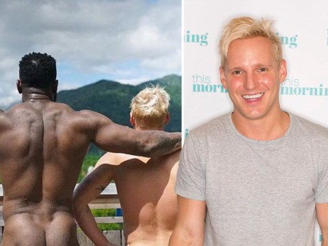 Jamie Laing hits bum note while filming in Japan following Strictly departure