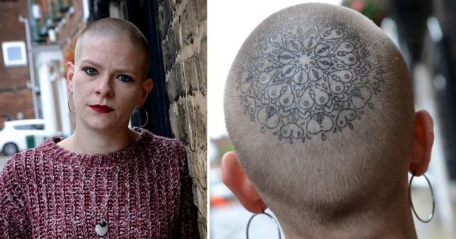 Briony Sparrow's awesome head tattoo