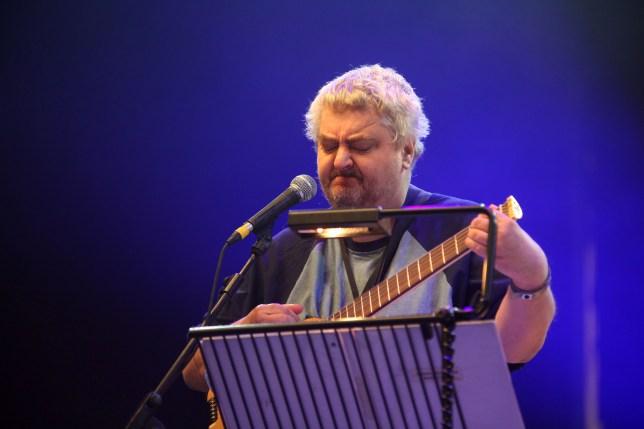 Singer Daniel Johnston performing in Minehead in 2010