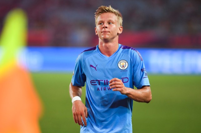 Oleksandr Zinchenko is out of Manchester City's clash with Watford