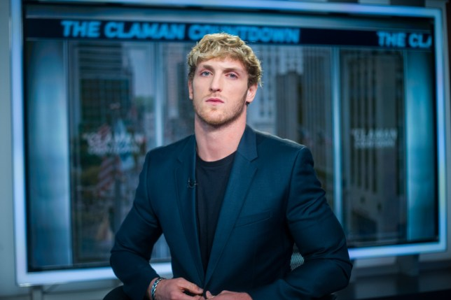 "NEW YORK, NEW YORK - JULY 22: American Internet personality, actor, director, and YouTuber Logan Paul appears on ""The Claman Countdown"" with Liz Claman at Fox Business Network Studios on July 22, 2019 in New York City. (Photo by Steven Ferdman/Getty Images)"