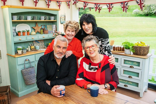 Sandi Toksvig, Paul Hollywood, Noel Fielding and Prue Leith on The Great British Bake Off 2019