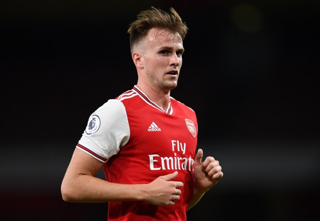 Rob Holding in action for Arsenal U23s against Everton U23s in August