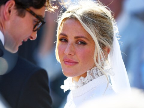 Who designed Ellie Goulding's wedding dress and how many did she wear?