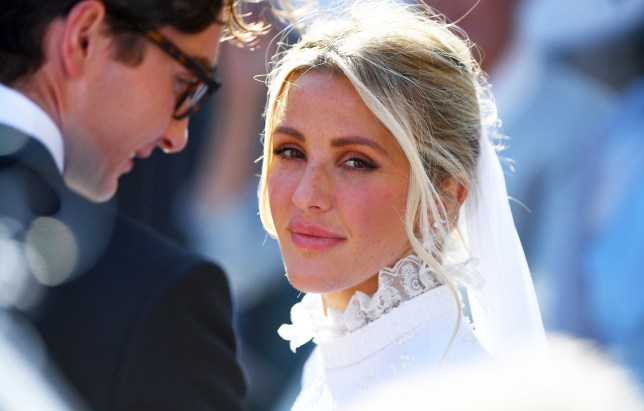 Singer Ellie Goulding at her wedding to Caspar Jopling at York Minister.