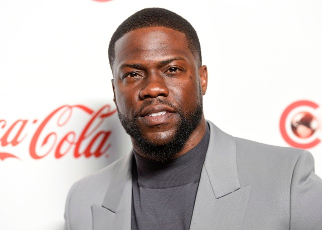 FILE - In this April 4, 2019 file photo, Kevin Hart poses for photos at the Big Screen Achievement Awards at Caesars Palace in Las Vegas. Hart has been injured in a car crash in the hills above Malibu on Sunday, Sept. 1. (Photo by Chris Pizzello/Invision/AP, File)