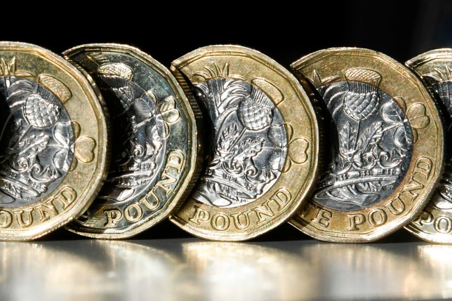 The pound sunk by around 1% against the dollar today