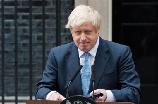 Boris Johnson Boris Johnson Makes a Statement on Brexit in Downing Street, London.
