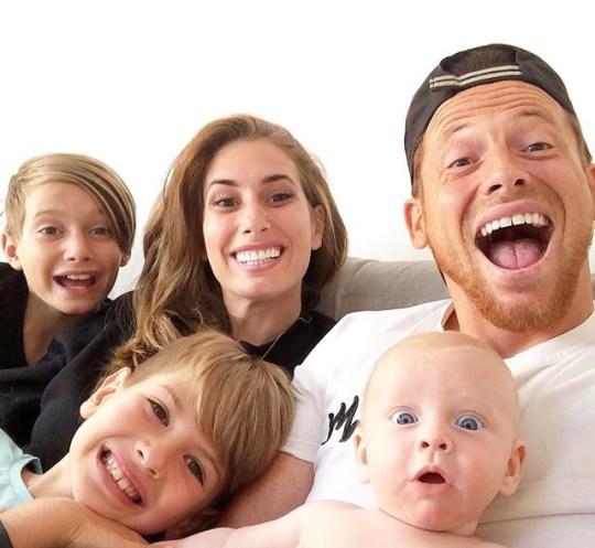 Stacey Solomon Joe Swash and kids