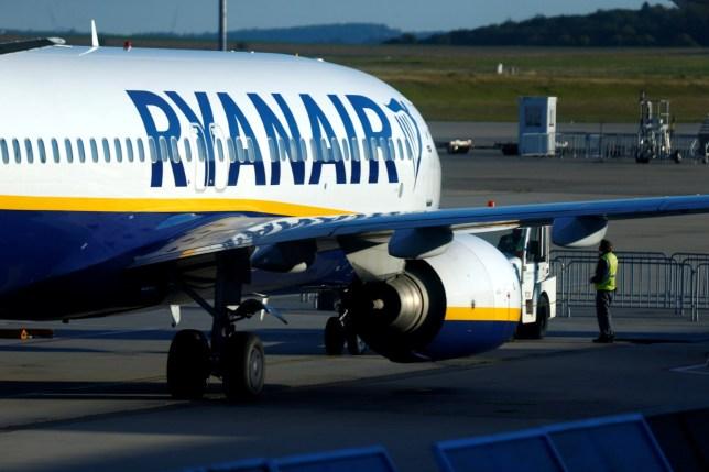 A Ryanair aircraft