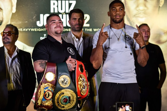 Andy Ruiz and Anthony Joshua