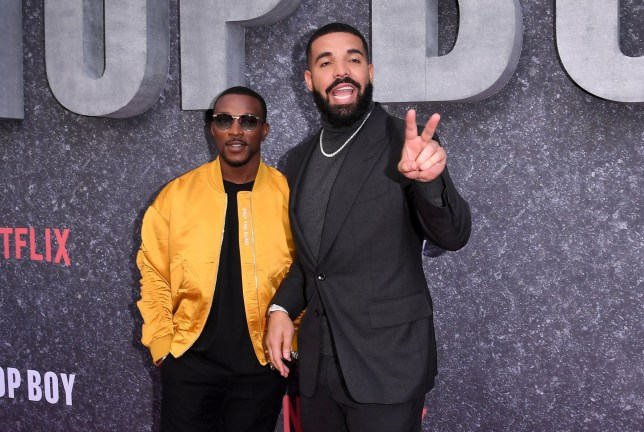 Mandatory Credit: Photo by Anthony Harvey/REX (10389989be) Ashley Walters and Drake 'Top Boy' TV Show premiere, London, UK - 04 Sep 2019